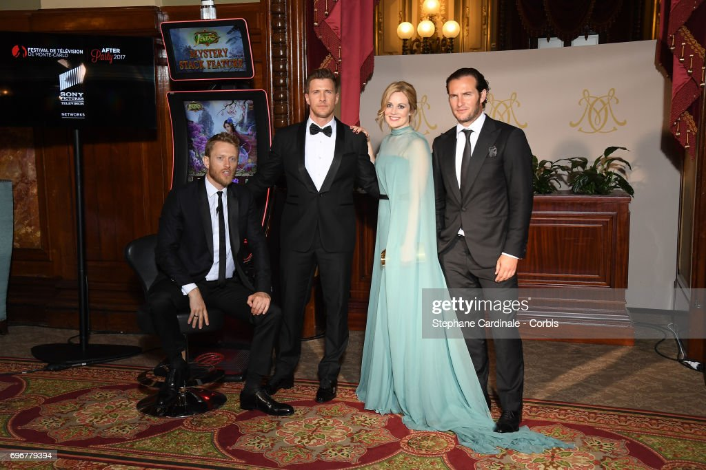 Patrick Heusinger, Neil Jackson, Cara Theobold and Angel Bonanni attend the After Party Opening Ceremony of the 57th Monte Carlo TV Festival at the Monte-Carlo Casino on June 16, 2017 in Monte-Carlo, Monaco.