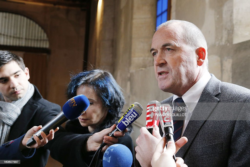Patrick Houssel, chairman of central Paris' University Hospitals, speaks during a press conference on February 3, 2013 at the Port-Royal maternity in Paris, after a baby died in utero on February 1. A pregnant woman was due to give birth during the night on January 31 to February 1st at Port-Royal maternity, but could not be treated because no room was available upon her arrival at the emergency unit, according to French newspaper Le Parisien. French government requested today to launch an 'exceptional inquiry' and Social Affairs and Health Minister Marisol Touraine expressed her 'deep emotion' towards the couple.