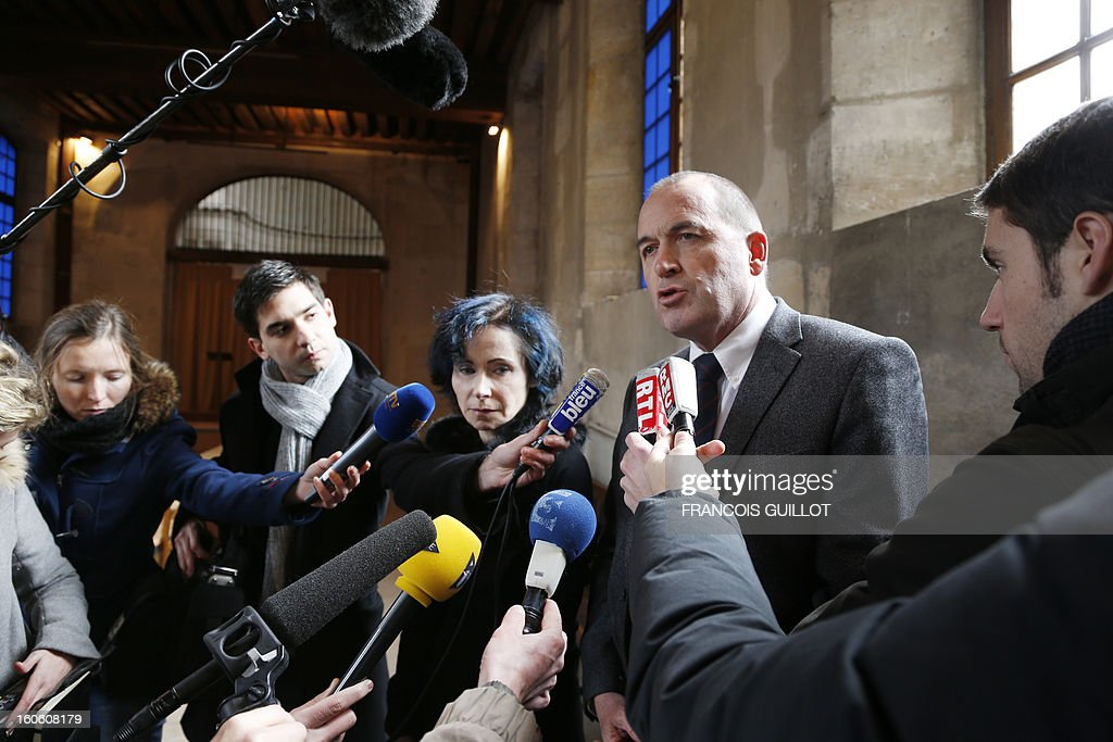 Patrick Houssel (2ndR), chairman of central Paris' University Hospitals, speaks during a press conference beside French doctor at Port-Royal Hospital, Isabelle Ferrand (C) on February 3, 2013 at the Port-Royal maternity in Paris, after a baby died in utero on February 1. A pregnant woman was due to give birth during the night on January 31 to February 1st at Port-Royal maternity, but could not be treated because no room was available upon her arrival at the emergency unit, according to French newspaper Le Parisien. French government requested today to launch an 'exceptional inquiry' and Social Affairs and Health Minister Marisol Touraine expressed her 'deep emotion' towards the couple.