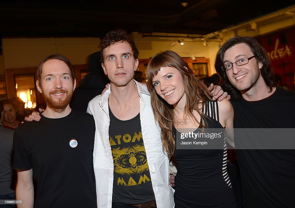 Patrick Hughes, Matt Sheehy, Sarah Fennell and Dave Lowensohn of the band Lost Lander attend the Terms And Conditions May Apply: Privacy Invasion Party on January 21, 2013 in Park City, Utah.