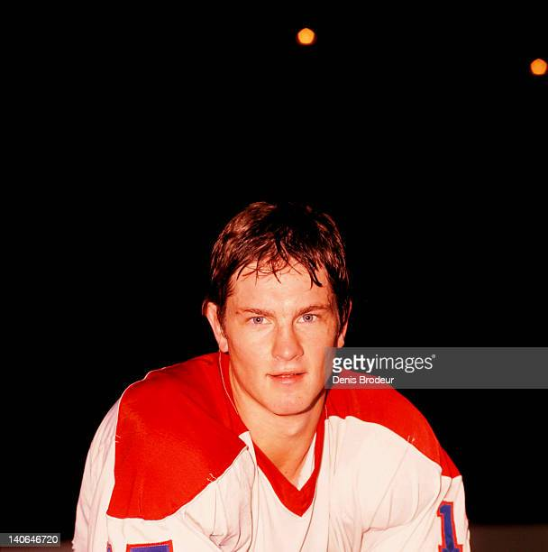 Patrick Hughes of the Montreal Canadiens poses for a photo at the Montreal Forum in Montreal Quebec Canada