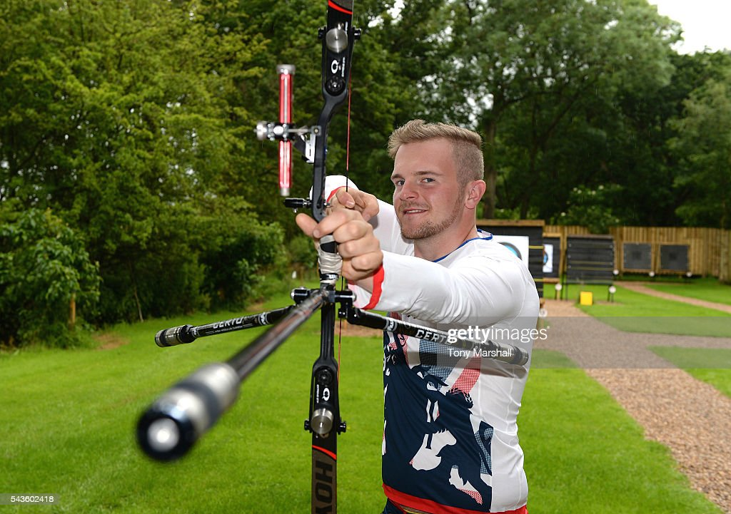 Patrick Huston of Great Britain during the Announcement of Archery Athletes Named in Team GB for the Rio 2016 Olympic Games on June 29, 2016 in Coventry, England.