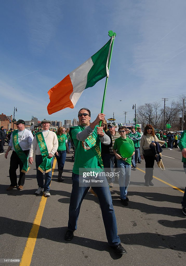 Patrick Irwin attends the St. Patrick's Day Parade on the streets of Detroit on March 11, 2012 in Detroit, Michigan.