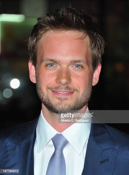 Patrick J Adams arrives to the premiere of HBO's new series 'Luck' at Grauman's Chinese Theatre on January 25 2012 in Hollywood California