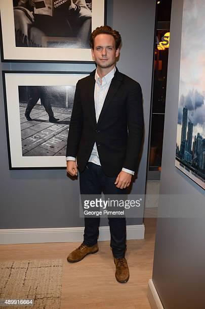 Patrick J Adams attends the Lumas Gallery Opening featuring Patrick J Adams at Lumas Gallery on September 24 2015 in Toronto Canada