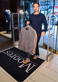 Patrick J. Adams Supports Moores Clothing For Men...
