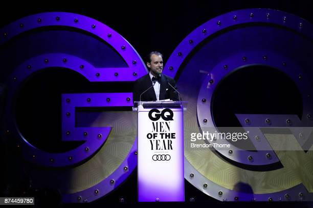 Patrick Johnson presents the award for Australian Designer of the Year during the GQ Men Of The Year Awards Ceremony at The Star on November 15 2017...