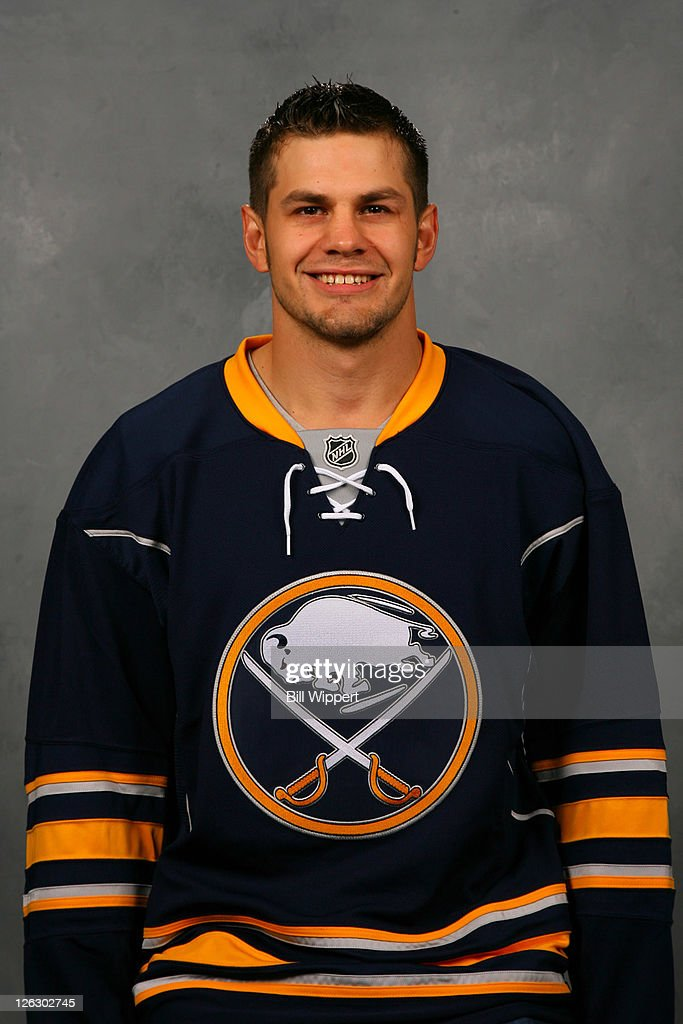 Patrick Kaleta of the Buffalo Sabres poses for his official headshot for the 20112012 season on September 16 2011 at the First Niagara Center in...