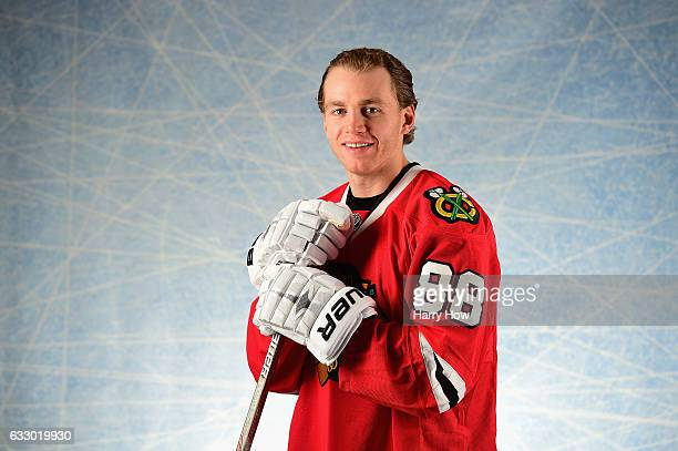 Patrick Kane of the Chicago Blackhawks poses for a portrait prior to the 2017 Honda NHL AllStar Game at Staples Center on January 29 2017 in Los...