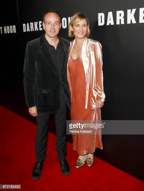 Patrick Kennedy and Sarah Solemani attend the premiere of Focus Features 'Darkest Hour' at Samuel Goldwyn Theater on November 8 2017 in Beverly Hills...