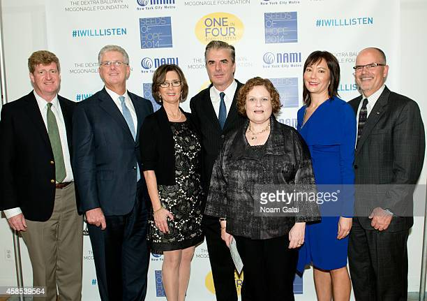 Patrick Kennedy Robert Dibble Shari Goldfarb Chris Noth Wendy Brennan Barbara Ricci and Joseph Pyle attend the 2014 NAMINYC Metro Seeds of Hope Gala...