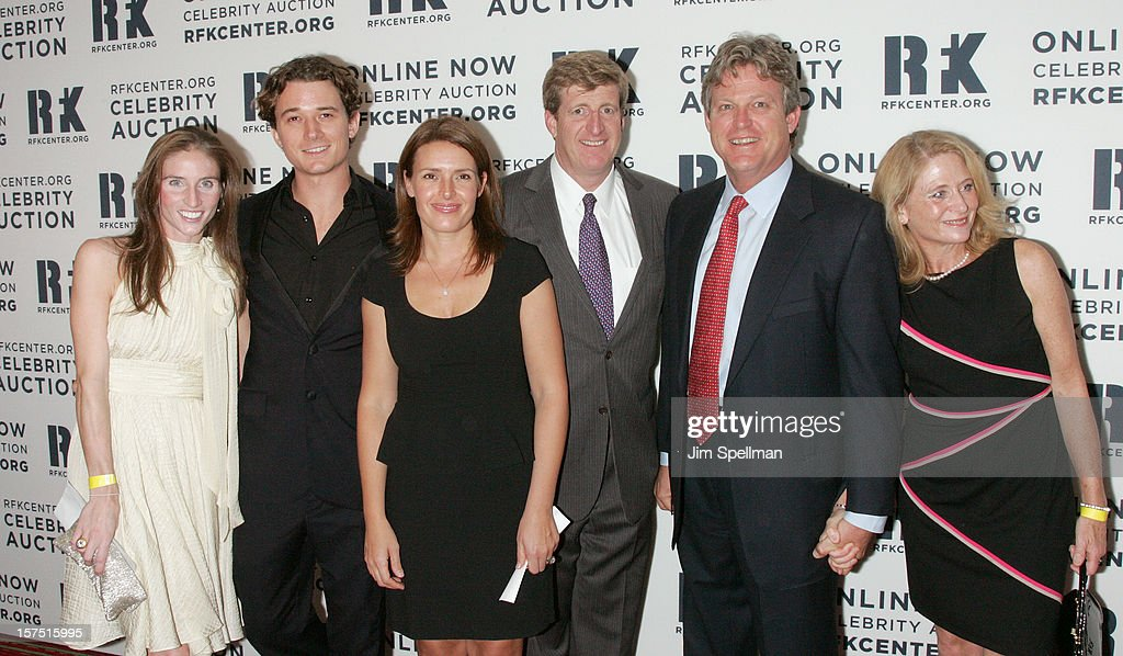 Patrick Kennedy (3rd from right), <a gi-track='captionPersonalityLinkClicked' href=/galleries/search?phrase=Ted+Kennedy+Jr.+-+Lawyer&family=editorial&specificpeople=1146023 ng-click='$event.stopPropagation()'>Ted Kennedy Jr.</a> 2nd from right) and family attend 2012 Ripple Of Hope Gala at The New York Marriott Marquis on December 3, 2012 in New York City.