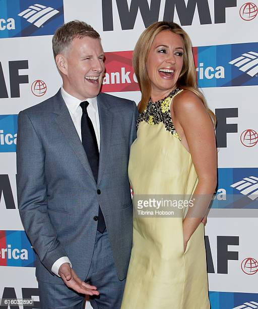 Patrick Kielty and Cat Deeley attend the International Women's Media Foundation 27th annual Courage In Journalism Awards at the Beverly Wilshire Four...