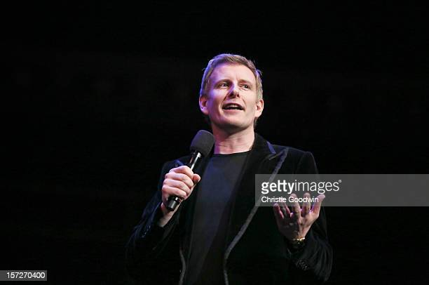 Patrick Kielty performs on stage as part of the The Prince's Trust comedy gala We Are Most Amused at Royal Albert Hall on November 28 2012 in London...