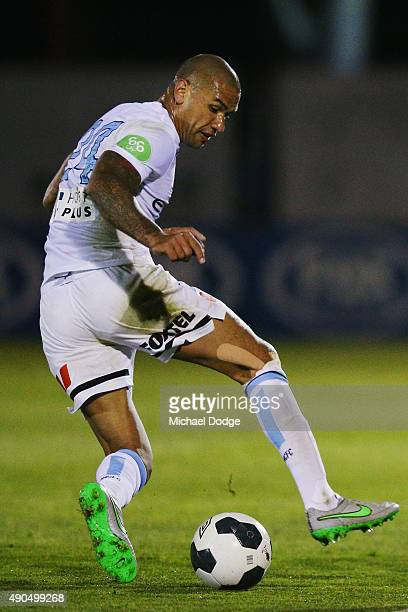 Patrick Kisnorbo of the City controls the ball during the FFA Cup Quarter Final match between Heidleberg United and Melbourne City FC at Olympic...