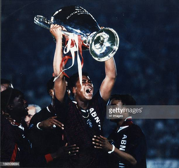 Patrick Kluivert during the Champions League final match between Ajax Amsterdam and AC Milan on May 24 1995 in Vienna Austria