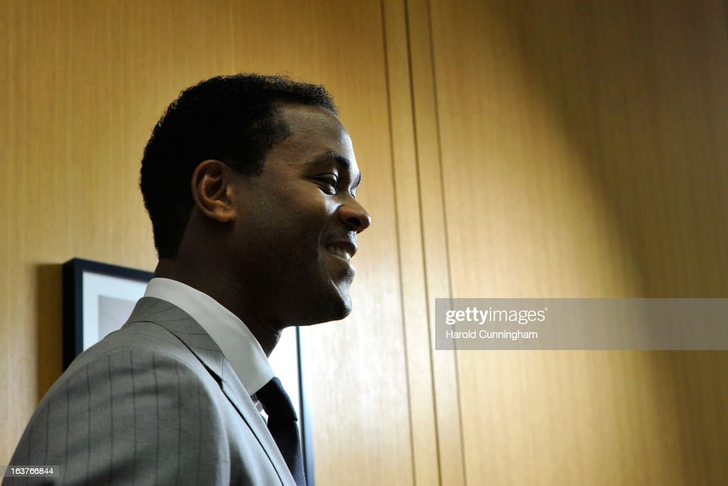 Patrick Kluivert, UEFA Europa League Final Ambassador, looks on after the UEFA Europa League quarter finals draw at the UEFA headquarters on March 15, 2013 in Nyon, Switzerland.