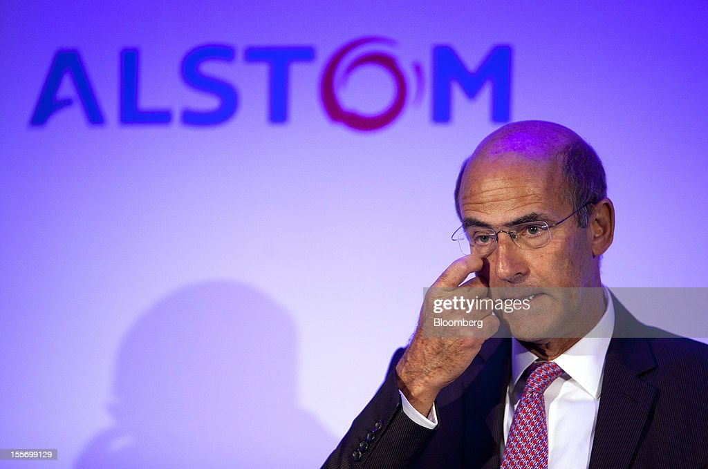 <a gi-track='captionPersonalityLinkClicked' href=/galleries/search?phrase=Patrick+Kron&family=editorial&specificpeople=539569 ng-click='$event.stopPropagation()'>Patrick Kron</a>, chief executive officer of Alstom SA, pauses during a news conference to announce the company's results in Paris, France, on Wednesday, Nov. 7, 2012. Alstom SA, the French maker of power equipment and high-speed trains, reported first-half earnings that beat analysts' estimates as sales and orders for trains and turbines climbed. Photographer: Balint Porneczi/Bloomberg via Getty Images