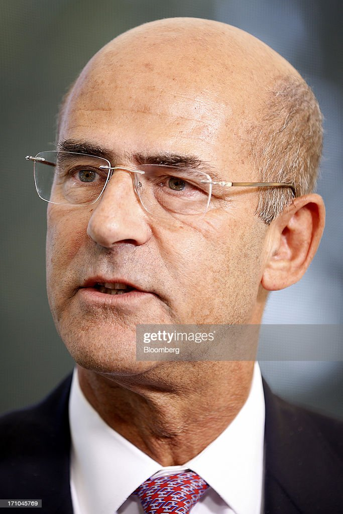 <a gi-track='captionPersonalityLinkClicked' href=/galleries/search?phrase=Patrick+Kron&family=editorial&specificpeople=539569 ng-click='$event.stopPropagation()'>Patrick Kron</a>, chief executive officer of Alstom SA, speaks during a Bloomberg Television interview on day two of the St. Petersburg International Economic Forum 2013 (SPIEF) in St. Petersburg, Russia, on Friday, June 21, 2013. President Vladimir Putin is battling investor skepticism to woo foreign executives descending on his hometown today as Russia's economy faces a risk of recession and a crackdown on critics scares off intellectuals. Photographer: Simon Dawson/Bloomberg via Getty Images