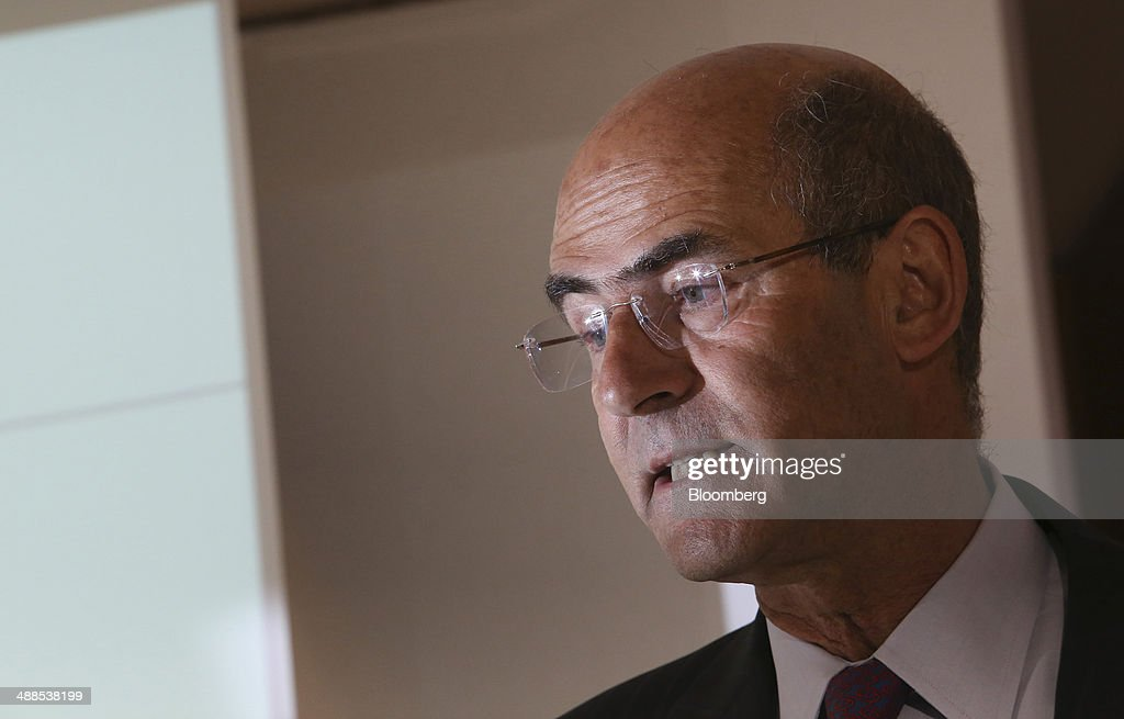 <a gi-track='captionPersonalityLinkClicked' href=/galleries/search?phrase=Patrick+Kron&family=editorial&specificpeople=539569 ng-click='$event.stopPropagation()'>Patrick Kron</a>, chief executive officer of Alstom SA, speaks during a news conference to announce the company's full-year financial results at Alstom SA's headquarters in Paris, France, on Wednesday, May 7, 2014. Alstom, the French company that may sell power-equipment units to General Electric Co., reported annual earnings that missed analyst estimates amid increased restructuring costs, writedowns and provisions. Photographer: Chris Ratcliffe/Bloomberg via Getty Images