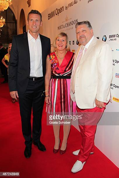 Patrick Kuehnen Manfred Dirrheimer and his wife Angela Dirrheimer attend the BMW Open Players Night at Rilano No 6 on April 28 2014 in Munich Germany