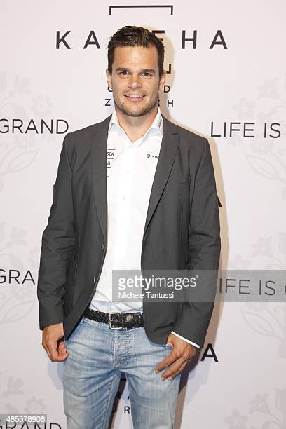 Patrick Kueng arrives on the red carpet during the opening ceremony at the Kameha Hotel on August 28 2015 in Zurich Switzerland
