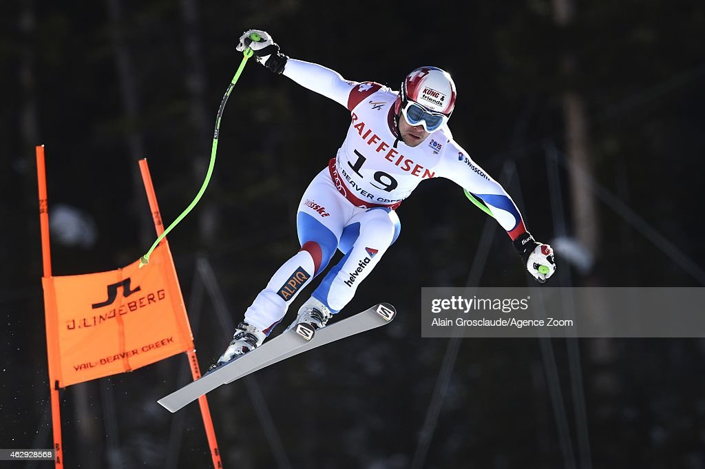 Patrick Kueng of Switzerland wins the gold medal during the FIS Alpine World Ski Championships Men's Downhill on February 7, 2015 in Beaver Creek, Colorado.