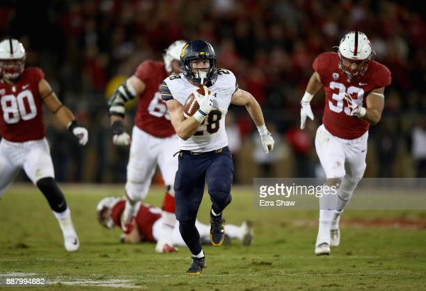 Patrick Laird of the California Golden Bears in action against the Stanford Cardinal at Stanford Stadium on November 18 2017 in Palo Alto California