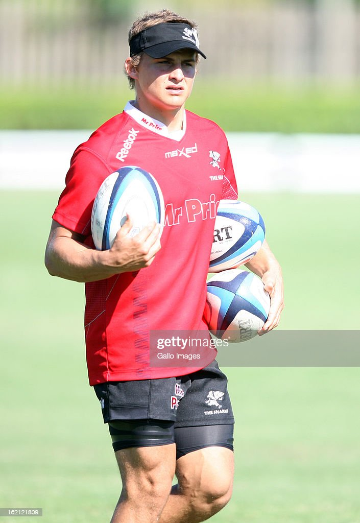 Patrick Lambie during The Sharks training session at Kings Park on February 19, 2013 in Durban, South Africa.
