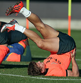 Patrick Lambie in action during the South African National rugby team training session at Latymer Upper School Sports Grounds on November 12 2014 in...