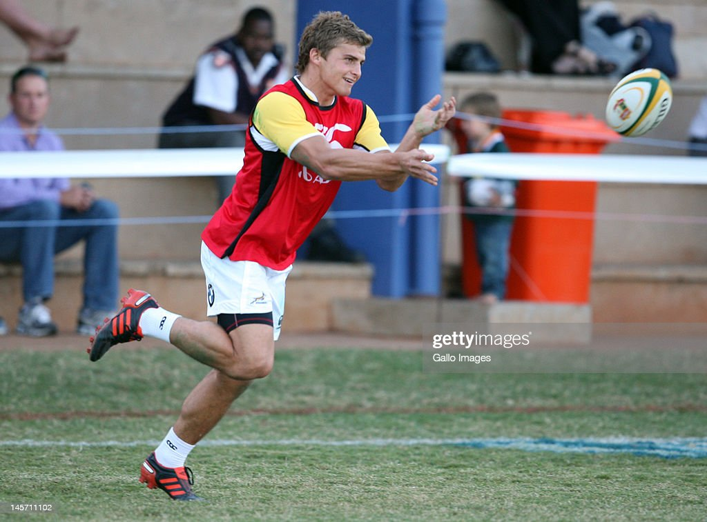 <a gi-track='captionPersonalityLinkClicked' href=/galleries/search?phrase=Patrick+Lambie&family=editorial&specificpeople=6849711 ng-click='$event.stopPropagation()'>Patrick Lambie</a> of South Africa during a training session at Northwood Crusaders Rugby Club on June 04, 2012 in Durban, South Africa.