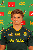 Patrick Lambie poses during a South African Springboks photocall session at the Southern Sun on April 14 2013 in Cape Town South Africa