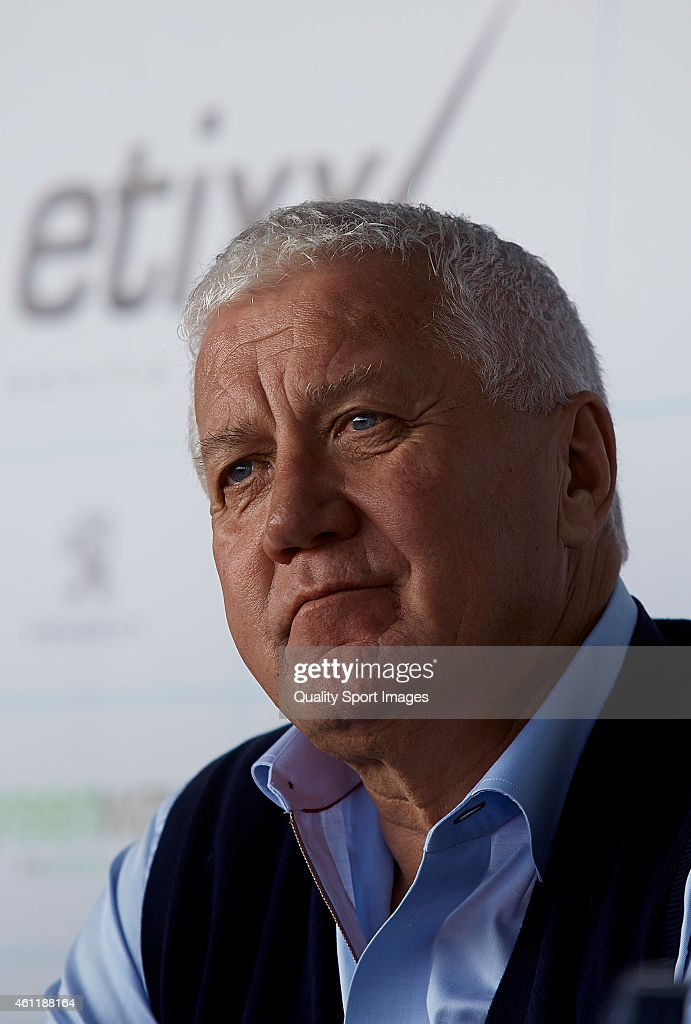 <a gi-track='captionPersonalityLinkClicked' href=/galleries/search?phrase=Patrick+Lefevere&family=editorial&specificpeople=708636 ng-click='$event.stopPropagation()'>Patrick Lefevere</a> CEO of Etixx-Quick Step Pro Cycling Team looks on during the Etixx-Quick Step Pro Cycling Team presentation on January 8, 2015 in Calpe , Spain.