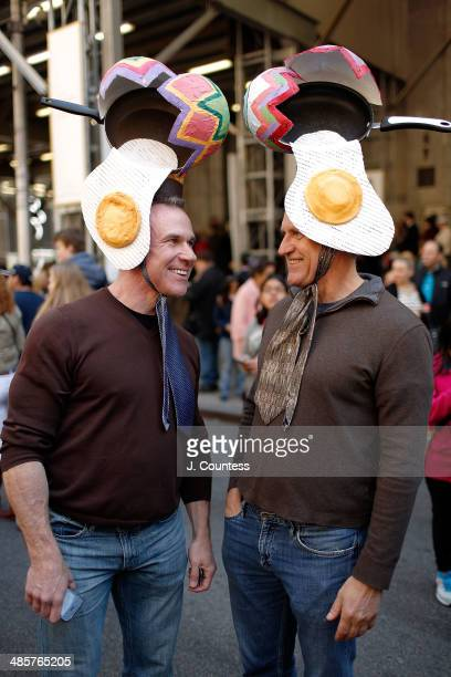 Patrick Loy and Bill Hirt are seen on 5th Ave during the annual Easter Parade and Bonnet Festival on Easter Sunday on April 20 2014 in New York City