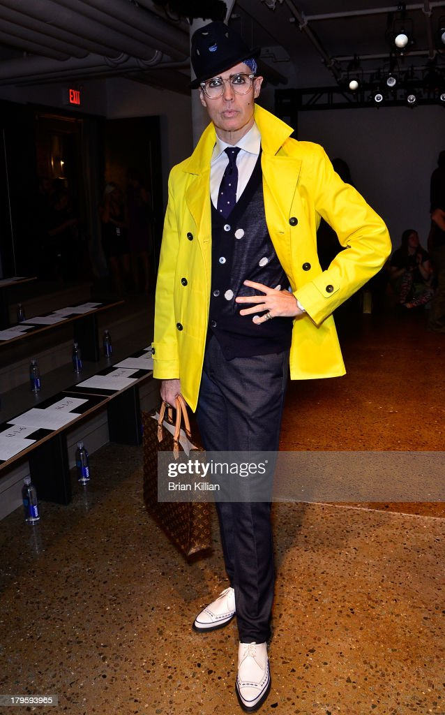 Patrick MacDonald attends the Costello Tagliapietra show during Spring 2014 MADE Fashion Week at Milk Studios on September 5, 2013 in New York City.