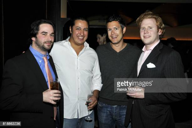 Patrick Manasse Odin Erickson Ian Spencer and Baker Woolworth attend The Luxury Collection Hotelsí Destination Guide Launch with Assouline at Del...