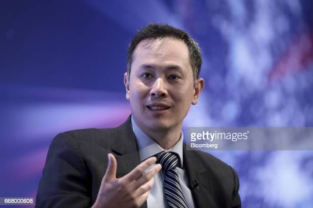 Patrick Mang director at HSBC Bank Plc speaks during the International Fintech Conference in London UK on Wednesday April 12 2017 Bank of England...