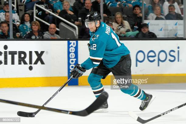 Patrick Marleau of the San Jose Sharks skates during a NHL game against the Vancouver Canucks at SAP Center at San Jose on April 4 2017 in San Jose...
