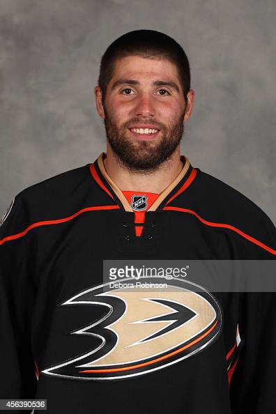 Patrick Maroon of the Anaheim Ducks poses for his official headshot for the 20142015 season on September 18 2014 at the Honda Center in Anaheim...