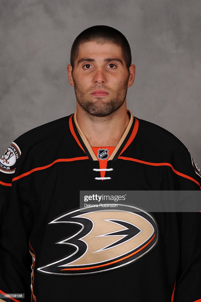 Patrick Maroon of the Anaheim Ducks poses for his official headshot for the 20152016 season on September 17 2015 at DoubleTree Hotel in Anaheim...