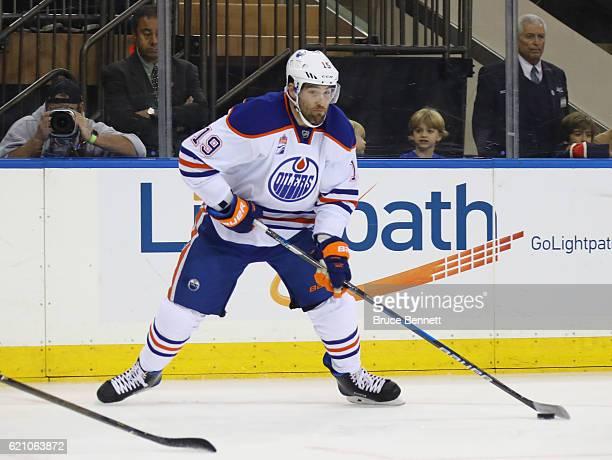 Patrick Maroon of the Edmonton Oilers skates against the New York Rangers at Madison Square Garden on November 3 2016 in New York City The Rangers...