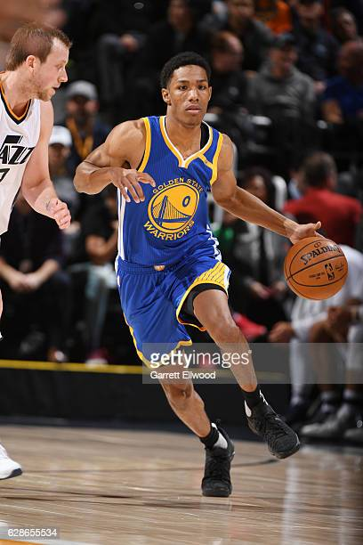 Patrick McCaw of the Golden State Warriors drives to the basket against the Utah Jazz during the game on December 8 2016 at vivintSmartHome Arena in...