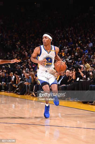 Patrick McCaw of the Golden State Warriors handles the ball during a game against the Houston Rockets on December 1 2016 at ORACLE Arena in Oakland...