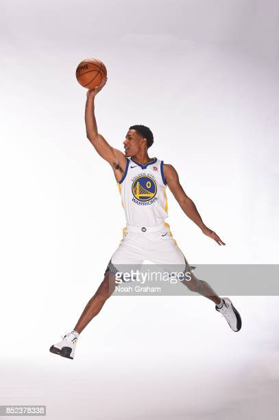 Patrick McCaw of the Golden State Warriors poses for a portrait during media day on September 22 2017 at Oracle Arena in Oakland California NOTE TO...
