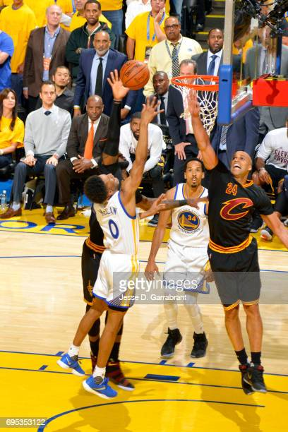 Patrick McCaw of the Golden State Warriors shoots a lay up during the game against the Cleveland Cavaliers in Game Five of the 2017 NBA Finals on...