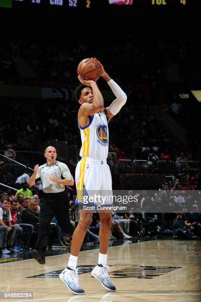 Patrick McCaw of the Golden State Warriors shoots the ball against the Atlanta Hawks on March 6 2017 at Philips Arena in Atlanta Georgia NOTE TO USER...