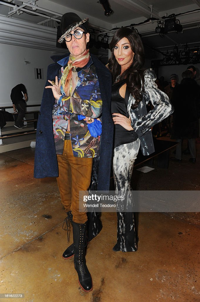 <a gi-track='captionPersonalityLinkClicked' href=/galleries/search?phrase=Patrick+McDonald+-+Fashionista&family=editorial&specificpeople=15167415 ng-click='$event.stopPropagation()'>Patrick McDonald</a> and Yasmine Petty attend The Blondes during Fall 2013 MADE Fashion Week at Milk Studios on February 12, 2013 in New York City.