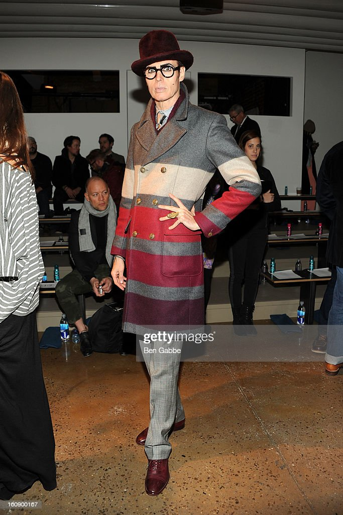 Patrick McDonald attends the Costello Tagliapietra fall 2013 fashion show during MADE fashion week at Milk Studios on February 7, 2013 in New York City.