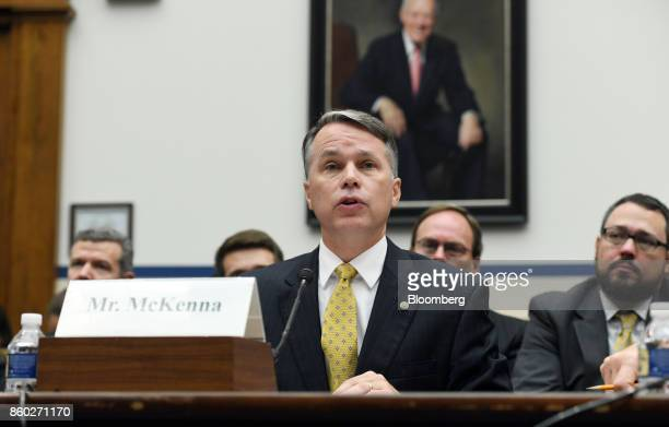 Patrick McKenna director of the Missouri Department of Transportation speaks during a House Transportation Committee hearing in Washington DC US on...
