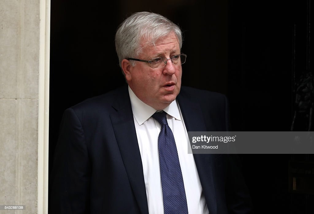 Patrick McLoughlin , Secretary of State for Transport leaves Downing Street following a cabinet meeting on June 27, 2016 in London, England. British Prime Minister David Cameron chaired an emergency Cabinet meeting this morning, after Britain voted to leave the European Union. Chancellor George Osborne spoke at a press conference ahead of the start of financial trading and outlining how the Government will 'protect the national interest' after the UK voted to leave the EU.